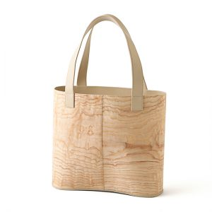 loopbaan tote bag / figured ash / Width 33 × Height 29 × Gusset 11.8 cm(Total height approx. 50 cm) / ¥52,800 (including tax)