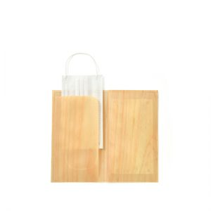 Mori mask case / Japanese cypress / 12.5(open:25) × 21.5cm / ¥3,300 (including tax)