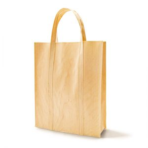 Mori bag (large) / Japanese cypress / Upper width 32 × Lower width 30 × Height 37 × Gusset 8 cm (Total height approx. 50cm) / Weight approx. 100g / Load bearing 10kg / ¥7,700 (including tax)